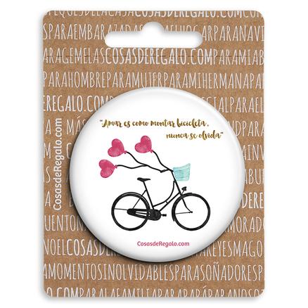 Espejo de bolsillo original de 5.8cm Amar es como montar en bicicleta