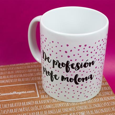 Pack de taza y espejo de profesión profesora molona