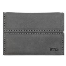 Mini-cartera l'Hédoniste gris polipiel