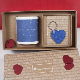 Pack de taza y llavero secretos del corazón