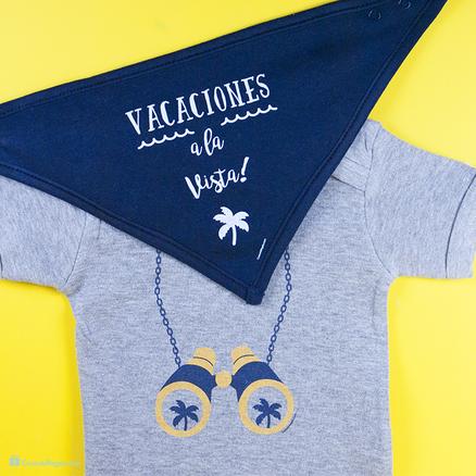Pack body y babero Vacaciones a la vista