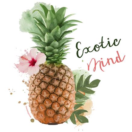 Taza original Exotic Mind con asa rosa