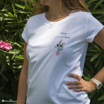 Camiseta Mírame y no me toques para mujer
