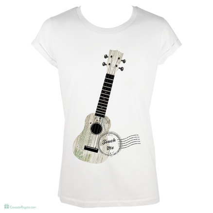 Camiseta original Guitarra touch me para mujer