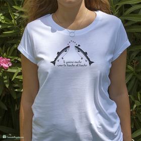 Camiseta original Te quiero como la trucha al trucho para mujer