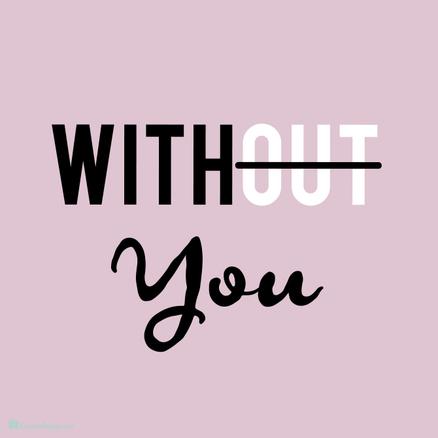 Llavero ovalado With you rosa