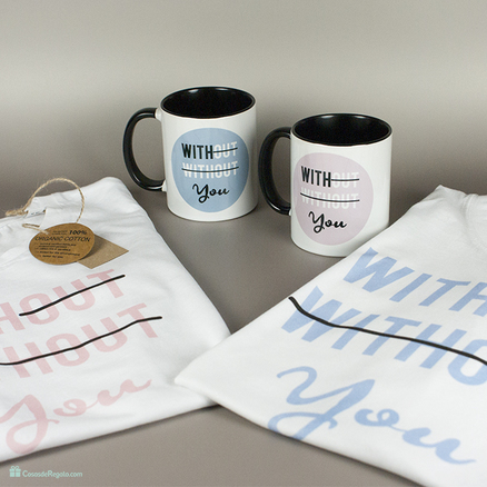 Pack de camiseta y taza With you para mujer