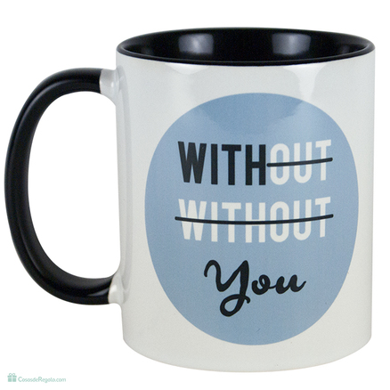 Taza original With you azul