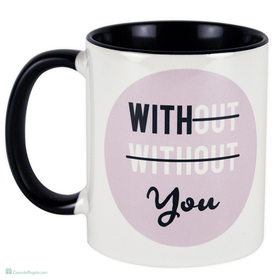 Taza original With you rosa