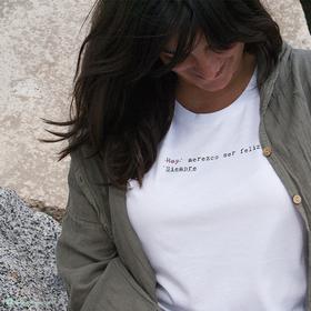 Camiseta Siempre feliz para mujer