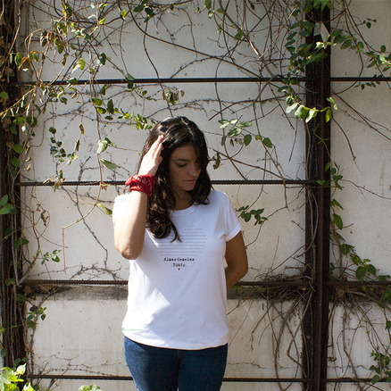 Camiseta original Tú y yo almas gemelas para mujer