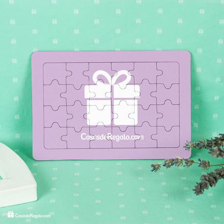 Puzzle cartón 24 piezas personalizable