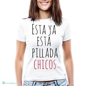 Camiseta original para despedidas de soltera Estoy pillada
