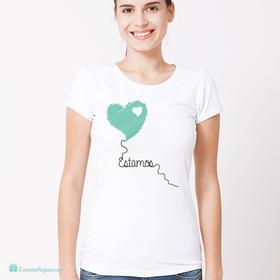 Camiseta original Estamos para mujer