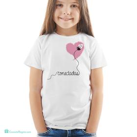 Camiseta original Conectadas infantil rosa