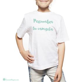 Camiseta original blanca con imagen personalizada infantil