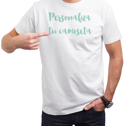 Camiseta original blanca para hombre con imagen personalizada