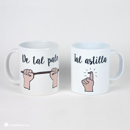 Taza original doble De tal palo tal astilla infantil