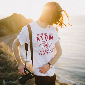 Camiseta Atom para hombre personalizable