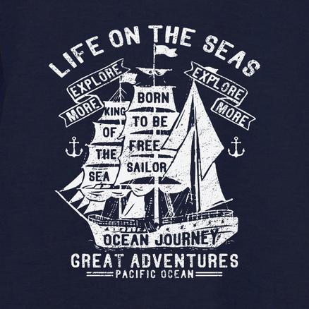 Sudadera Life on the seas para hombre