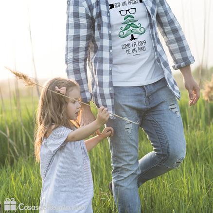 Camiseta Papá como la copa de un pino