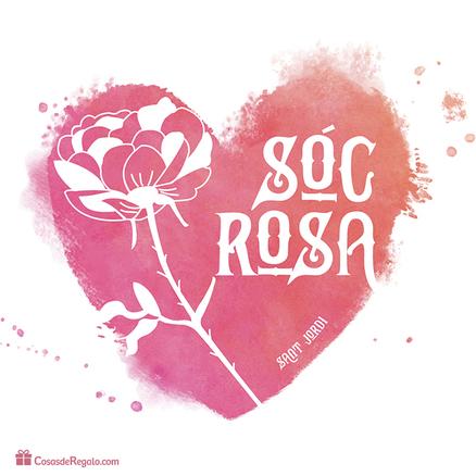 Tassa doble original Sóc rosa i drac Sant Jordi 2017 (CAT)