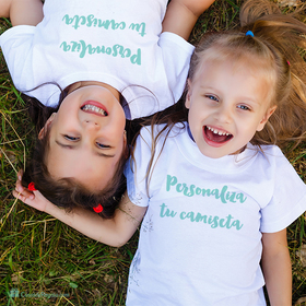 Pack camiseta doble infantil personalizada con foto