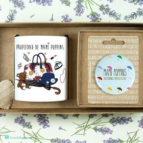 Pack de taza y espejo Mami Poppins