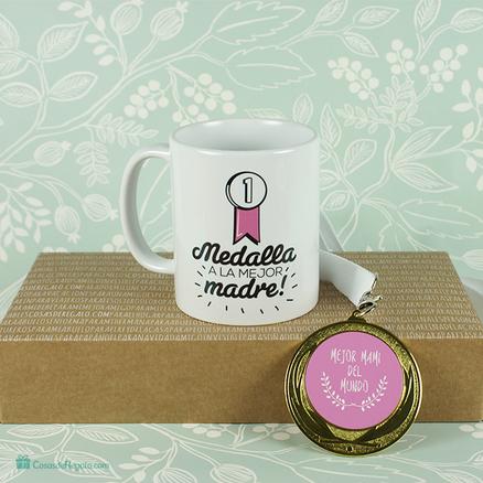 Pack de taza y medalla a la mejor madre del mundo