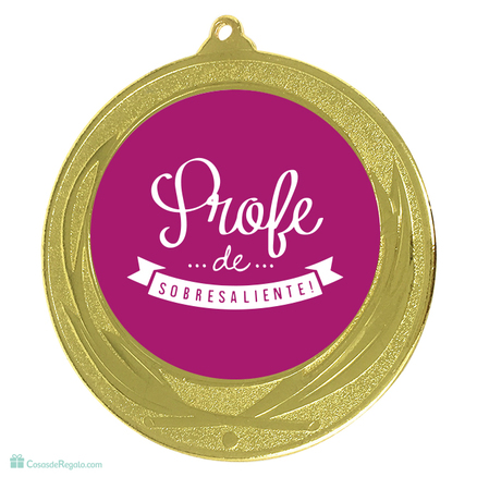 Pack taza y medalla Mejor profesora
