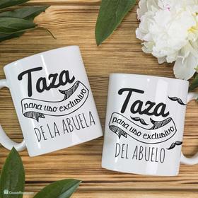 Pack de tazas doble para uso exclusivo de abuelos