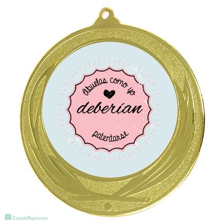 Medalla Abuelas como yo deberían patentarse