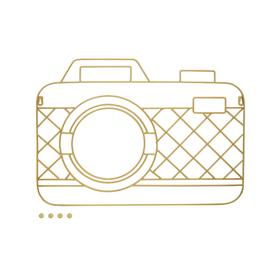 Porta foto Memory Cam magnético dorado (incluye 5 imanes)