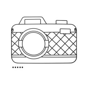 Porta foto Memory Cam magnético negro (incluye 5 imanes)
