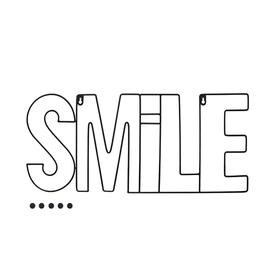Porta foto Smile magnético negro (incluye 5 imanes)