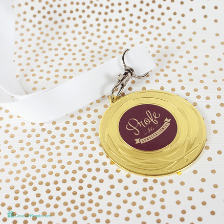 Pack taza y medalla Mejor profesor