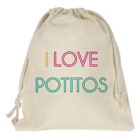 Bolsa merienda personalizada I love potitos