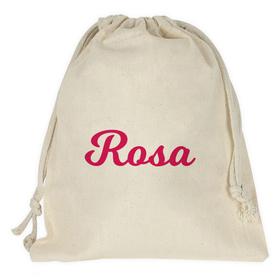 Bolsa merienda personalizada con una palabra o nombre
