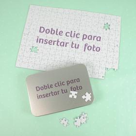 Puzzle de cartón A4 de 192 piezas con caja metálica A6