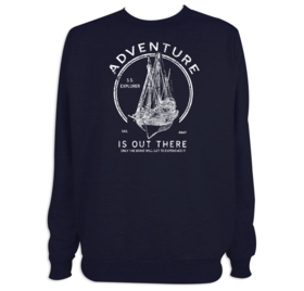 Sudadera Adventure is out there para hombre personalizable