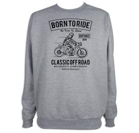 Sudadera hombre Born to Ride personalizable