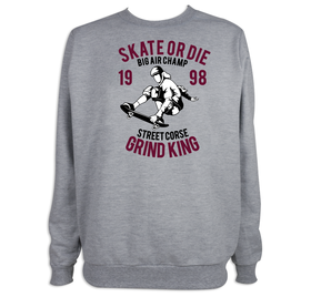 Sudadera hombre Skate or Die personalizable