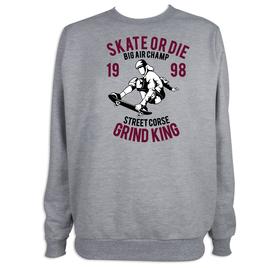 Sudadera hombre Skate or Die personalizable