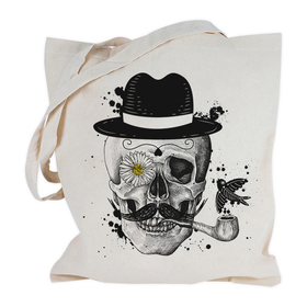 Bolsa con asas largas Calavera&Sombrero personalizable