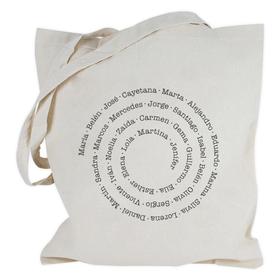 Bolsa con asas largas Nombres o frases en espiral personalizable