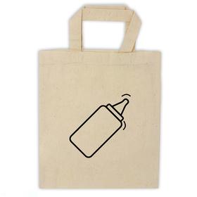 Bolsa algodón pequeña asa corta personalizada con una forma