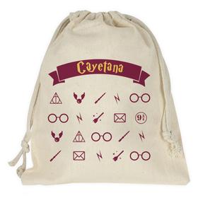 Bolsa merienda personalizada Símbolos magia&Nombre