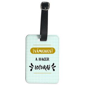 Etiqueta maleta personalizada Vámonos a hacer locuras