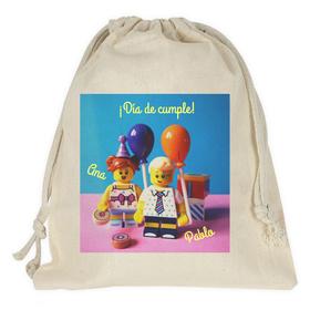 Bolsa merienda personalizada con tu imagen y texto