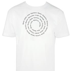 Camiseta hombre con nombres o frase en espiral personalizable